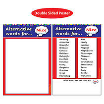 Alternative Words for 'Nice' Double Sided Paper Poster (A2 - 620mm x 420mm)