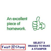 An Excellent Piece of Homework Stamper - Twist N Stamp