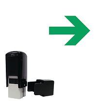 Arrow Mini Stamper - Green Ink (10mm)