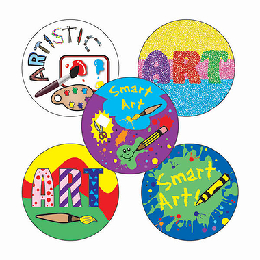 Art Stickers (30 Stickers - 25mm)