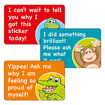 Ask Me Why Stickers (32 Stickers - 46mm x 30mm)
