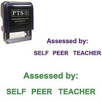 Assessed by: Self/Peer/Teacher Stamper (38mm x 15mm)
