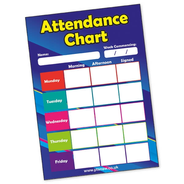 20 x attendance chart cards primary school reward certificates a5 5056325300139