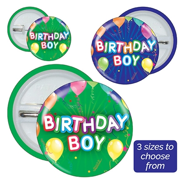 Birthday Boy Badges (10 Badges)