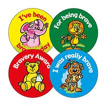 Bravery Award Stickers (20 Stickers - 32mm)