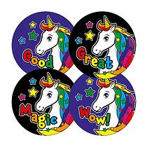 Bright Unicorn Stickers (20 Stickers - 32mm)