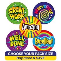 Bright Wording Stickers (25mm)