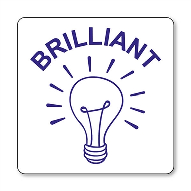 Brilliant Light Bulb Stamper - Blue Ink (25mm)