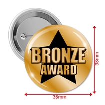 Bronze Award Badges (10 Badges - 38mm)