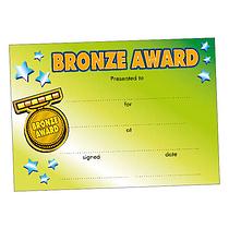 Bronze Award Certificates - Green (20 Certificates - A5) Brainwaves