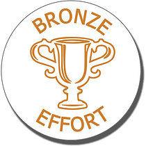 Bronze Effort Trophy Stamper - Bronze Ink (25mm)