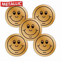 Bronze Smile Stickers (70 Stickers - 25mm)