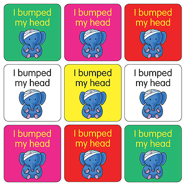 Bumped Head Stickers (35 Stickers - 20mm)