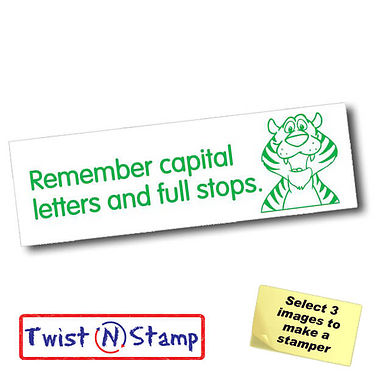 Capitals Letters and Full Stops Stamper - Twist N Stamp