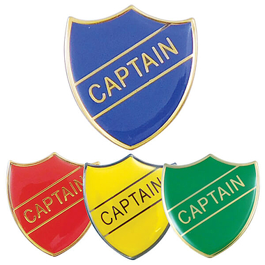 Captain Enamel Badge (30mm x 26.4mm)