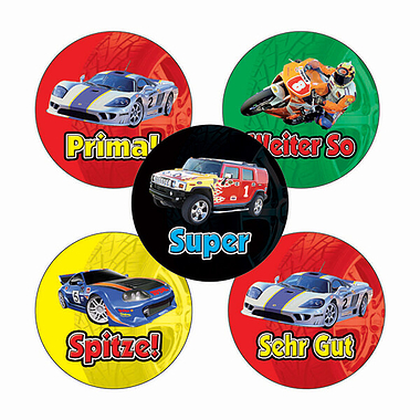 Cars & Bikes Stickers (70 Stickers - 25mm)