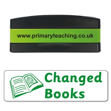 Changed Books Stakz Stamper - Green Ink (44mm x 13mm)