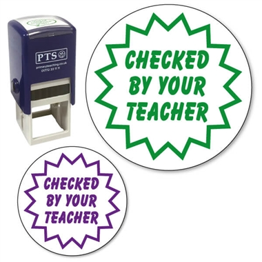 Checked by your Teacher Stamper (25mm)