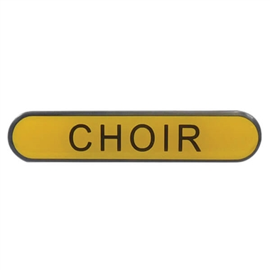 Choir Enamel Badge - Yellow (45mm x 9mm)