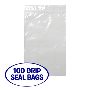"Clear Grip Seal Bags (100 per pack - 6"" x 9"")"