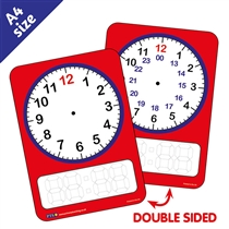 Clock Dry Wipe Card (A6 Double Sided)
