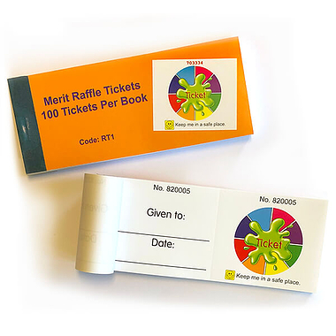 Colour Pallete Raffle Tickets - Book of 100