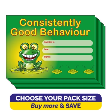 Consistently Good Behaviour Certificates (A5)