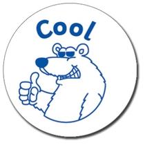 Cool Polar Bear Stamper - Blue Ink (25mm)