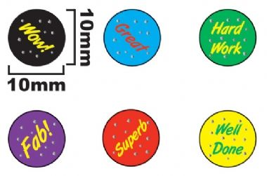 Stickers Value Pack (1960 Stickers - 10mm)