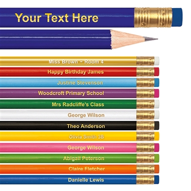 Personalised Pencil e.g. Each Child's Name and Class