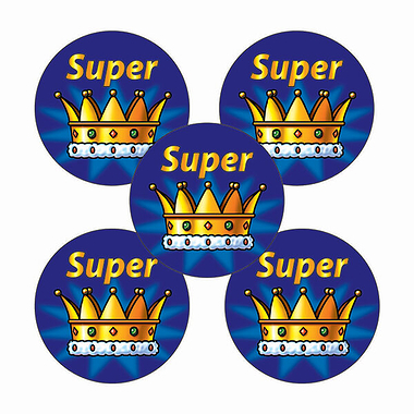 Crown Stickers - Super (70 Stickers - 25mm)