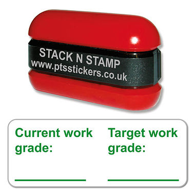 Current and Target Grade Stack & Stamp - Green Ink (38mm x 15mm)