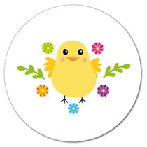 Customised Easter Chick Stickers (35 per sheet - 37mm)