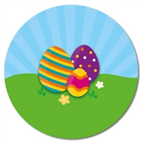 Customised Easter Eggs Stickers (35 per sheet - 37mm)