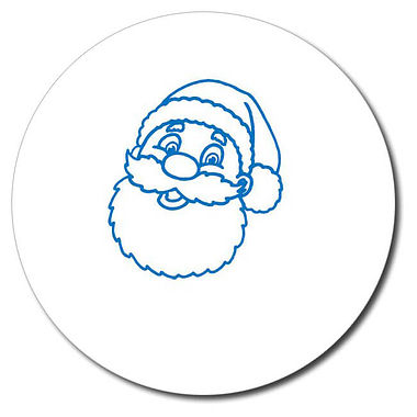 Customised Father Christmas Stamper - Blue Ink (25mm)
