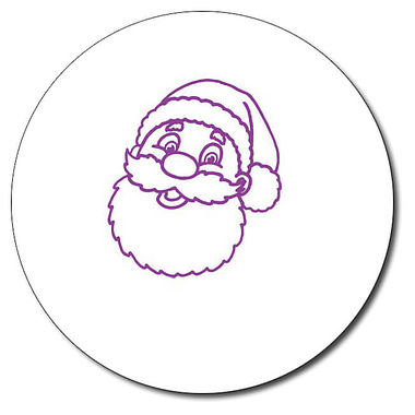 Customised Father Christmas Stamper - Purple Ink (25mm)