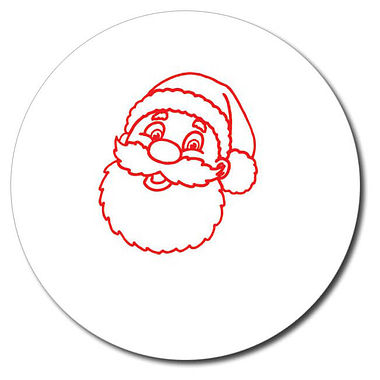 Customised Father Christmas Stamper - Red Ink (25mm)