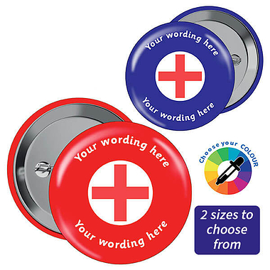 Customised First Aid Badge (10 Badges)