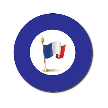 Customised French Flag Stickers - Blue (70 per sheet - 25mm)