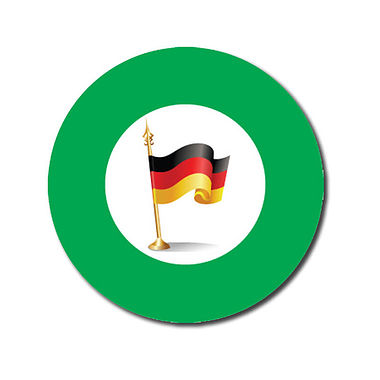 Customised German Flag Stickers - Green (70 per sheet - 25mm)