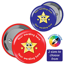Customised Gold Star Badges (10 Badges)