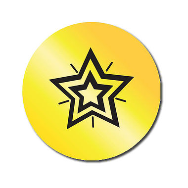 Customised Gold Star Stickers (70 per sheet - 25mm)
