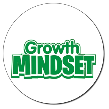 Customised Growth Mindset Stamper - Green Ink (21mm)
