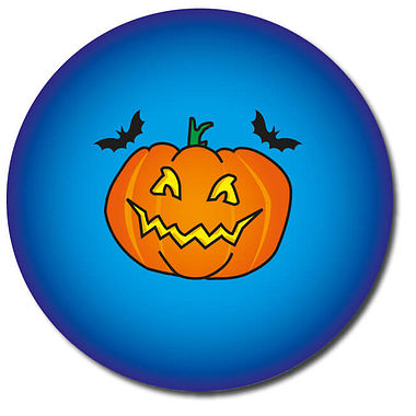 Customised Halloween Pumpkin Stickers - Blue (35 per sheet - 37mm)