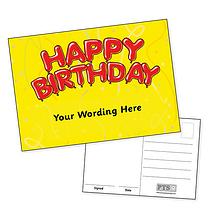 Customised Happy Birthday Postcard (A6)