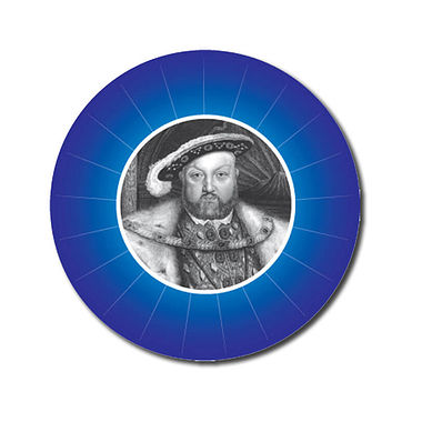 Customised History Stickers - Blue (70 per sheet - 25mm)
