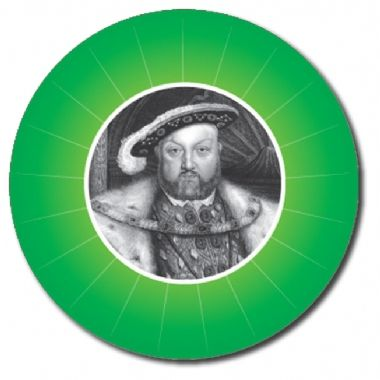 Customised History Stickers - Green (70 per sheet - 25mm)