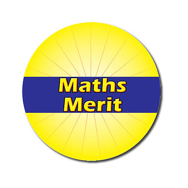 Customised Maths Merit Stickers - Yellow (70 per sheet - 25mm)