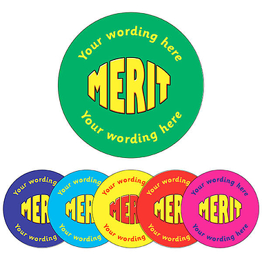 Customised Merit Stickers (70 per sheet - 25mm)