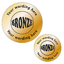 Customised Metallic Bronze Stickers